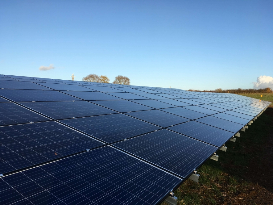 Southill Solar farm in Cornbury Estate.Solarcentury has built and connected the farm 4.5MWp solar farm is now generating enough solar electricity to meet demand.