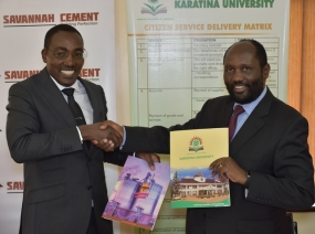 Savannah Cement and Karatina University sign partnership agreement