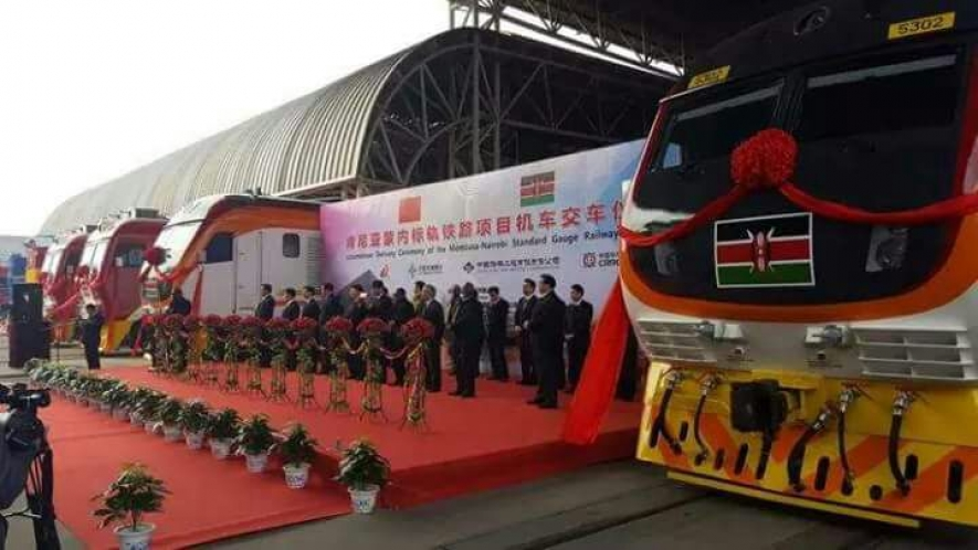 Kenya bound locomotives during  the flag off ceremony in China