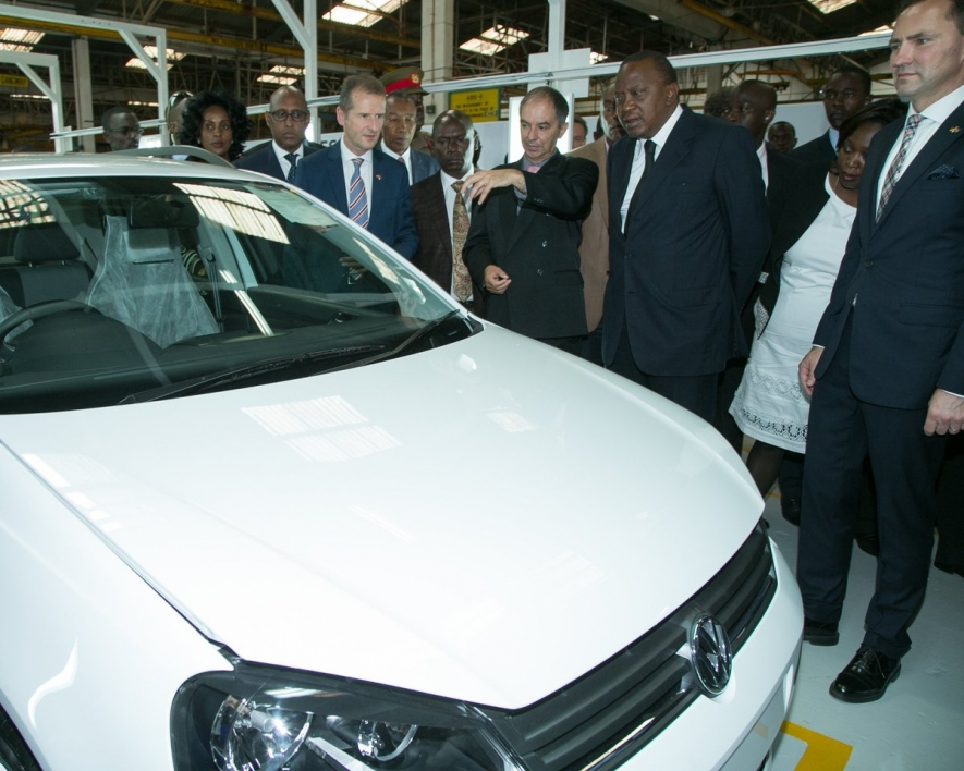 President Uhuru Kenyatta on 21 December inaugurated the Volkswagen (VW) production facility in Thika, with a call to Kenyans to buy products that are made, assembled or value added in the country.