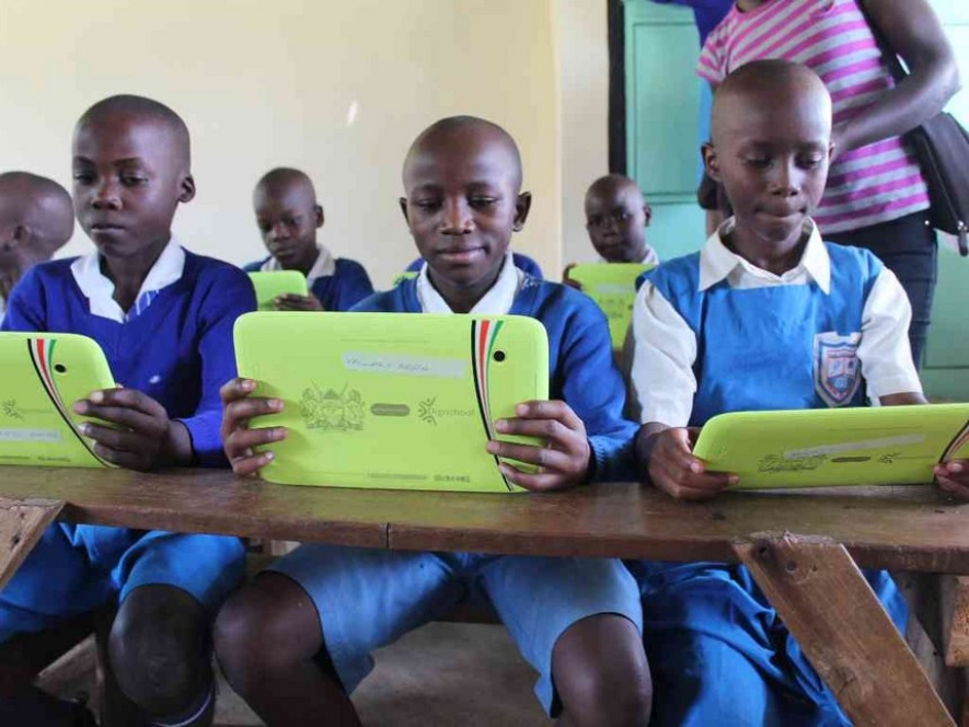 Pupils at Homa Bay Primary School