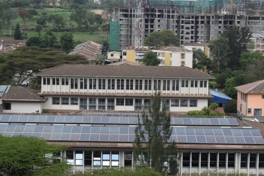 Solar panels installed at Strathmore University administration offices.The spread of solar and other modern energy technologies in African countries is considerably low.