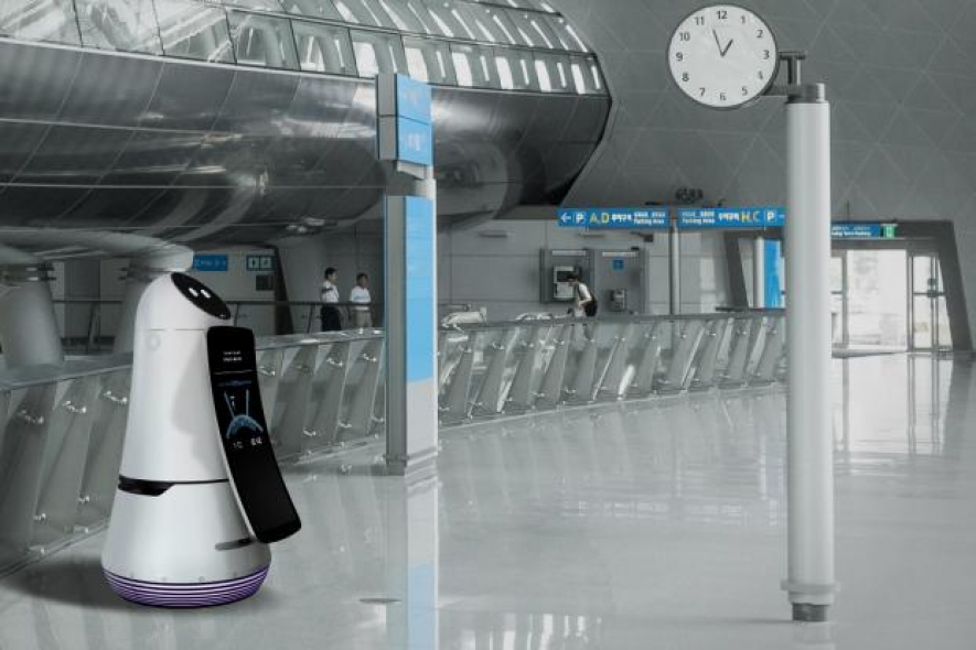 LG airport robots take over Korea's largest airport
