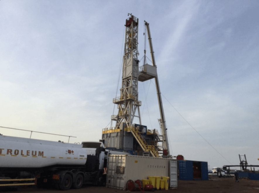 An oil rig at Tarach 1 well in Kenya's Block 11A. Erut 1 well has spudded,Africa Oil Corp. has announced.