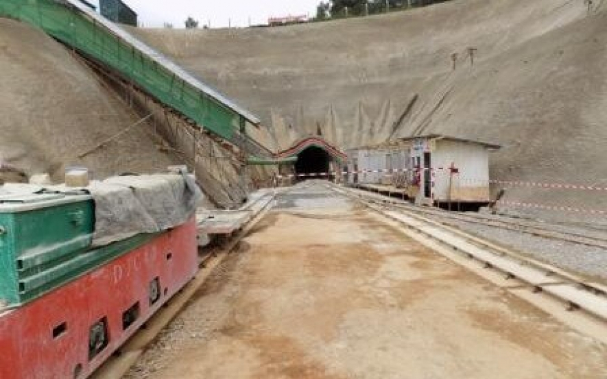 Entrance part of the northern water collector tunnel at Makomboki, Kigumo Sub County.