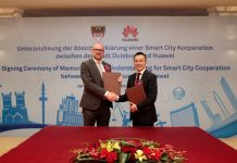 Duisburg Germany and Huawei sign MoU to Build a Smart City